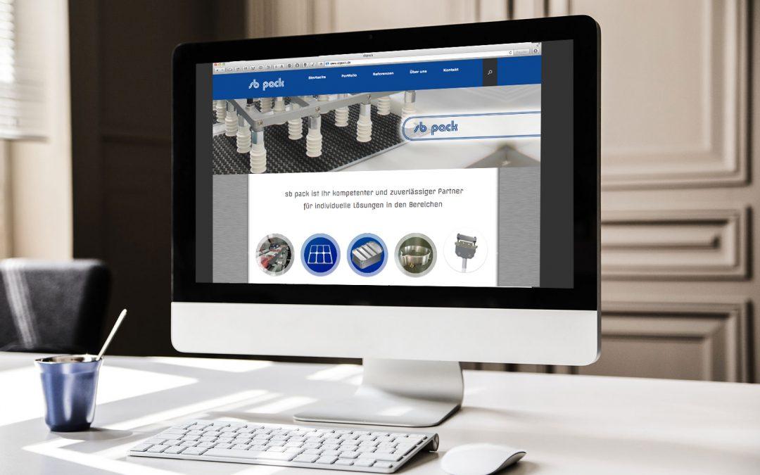 Homepage für sb pack